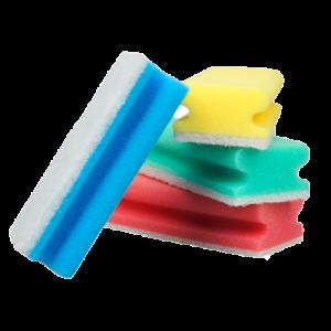 Spons met handige grip en witte schuurzijde