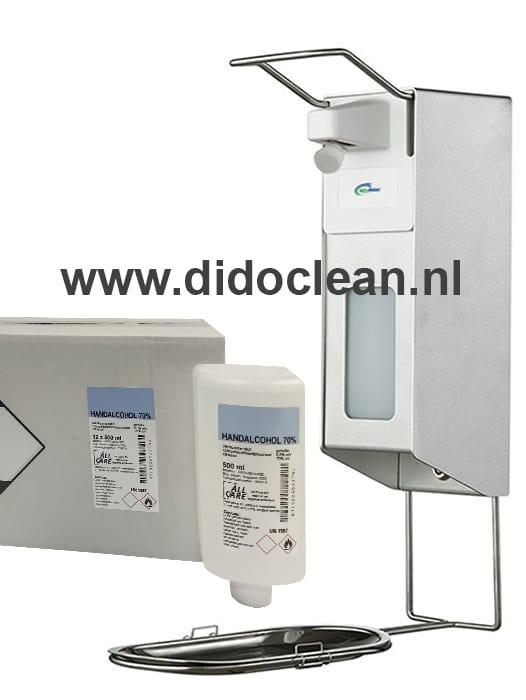 Desinfectie Dispenser inclusief 12 navullingen handalcohol