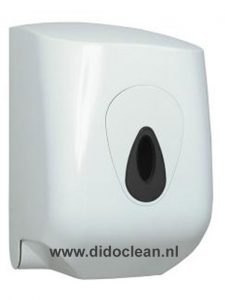 Dispenser MIDI handdoekrol wit kunststof