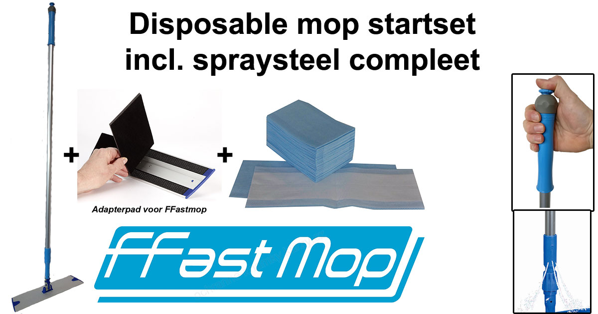 Disposable mop startset met spraysteel compleet