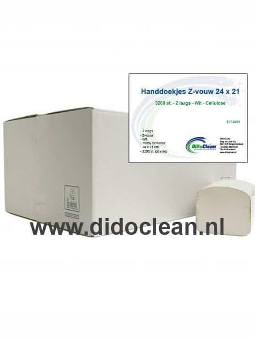 Handdoekjes Z-vouw cellulose 2 lgs 24 x 21 cm