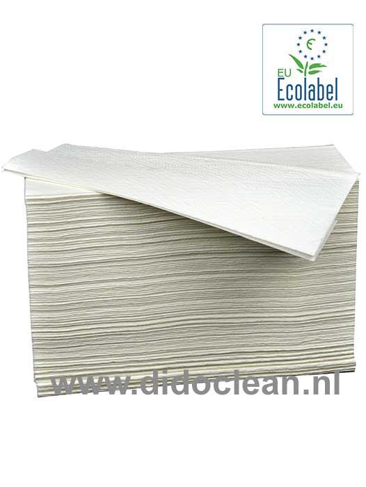Handdoekjes Z-vouw cellulose 2 laags 21 x 25 cm HollandPapier
