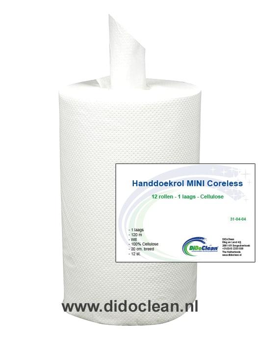 Pallet Handdoekrol Mini coreless (zonder koker) 12 rollen