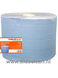 Industriepapier rollen Blauw 2 laags verlijmd 2 st.
