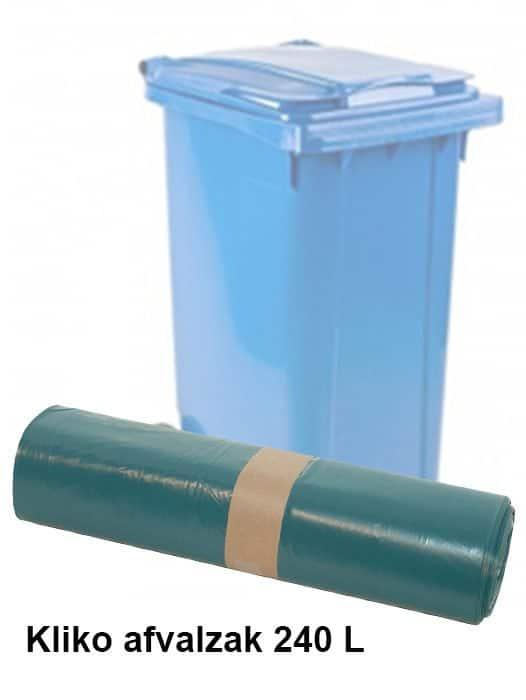 Kliko afvalzak 240 liter Extra stevig LDPE