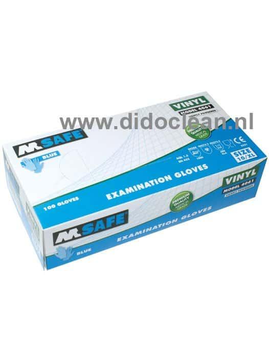 M-safe 4061 vinyl handschoenen blauw