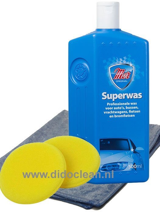 MER Superwas inclusief 2 wax applicator pads en microvezel doek
