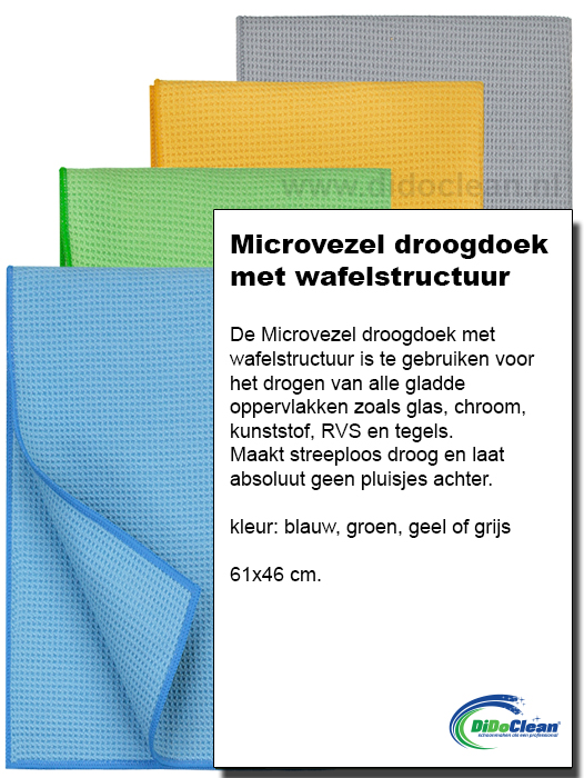 Microvezel droogdoek met wafelstructuur