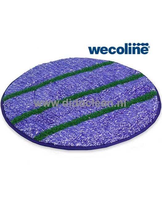 Microvezel met schrobstrepen Vloerpad Reinigingspad Blauw-Wit Wecoline