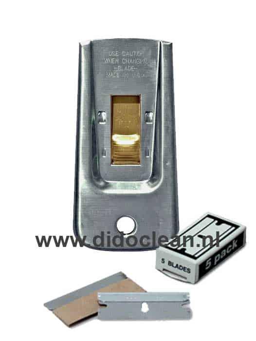 Pocket Scraper Glasmes 4cm incl. 5 mesjes