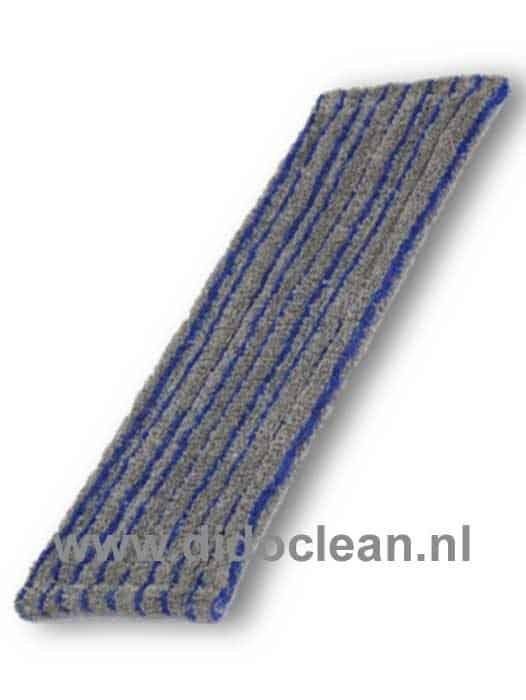 Scrubmop microvezel grijs/blauw voor klemframe en pocketframe