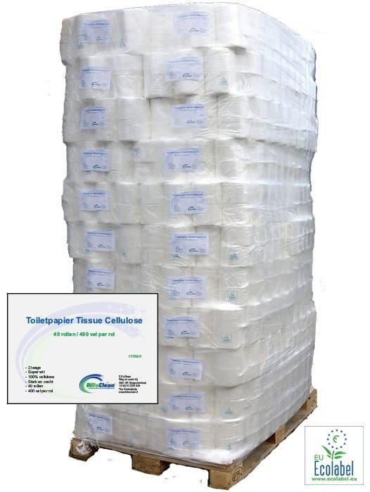 Pallet Toiletpapier Tissue Cellulose 2 laags 40 rol 400 vel