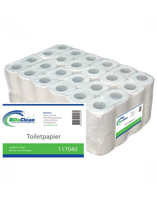 Toiletpapier wit cellulose 2 laags 400 vel per rol