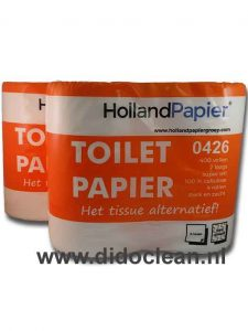 toiletpapier wit cellulose 2 laags 400 vel per rol hollandpapier