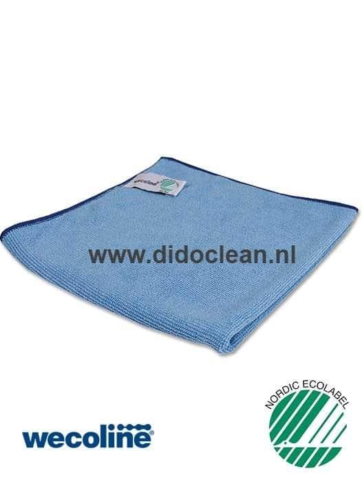 WECOLINE microvezel reinigingsdoek 40x40 cm blauw