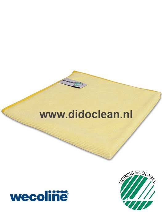 WECOLINE microvezel reinigingsdoek 40x40 cm geel